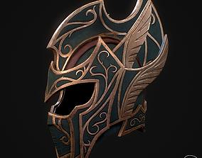 Elf fantasy helmet PBR 3D asset