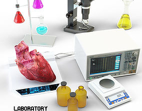Lab equipment heart 3D