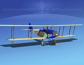 3D Curtiss JN-2 Jenny V10 Flying Circus