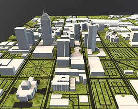 3D model Downtown Indianapolis Indiana