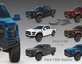 Ford F150 Raptor 2017 3D model game-ready