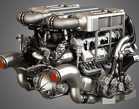 3D model Veyron 8 Litre Engine - W16 Engine With 4