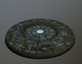 3D model VR / AR ready ancient portal