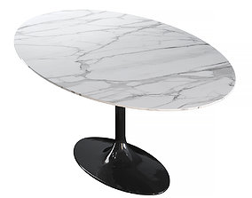 3D Table - Pearl White
