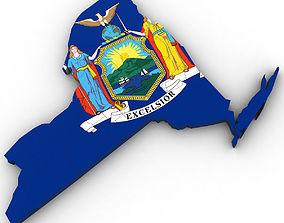 New York Political Map 3D model
