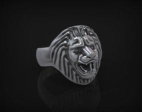 Ring Lion King STL 3D print model