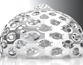 Perforated pointed dome geodesic dome engineering 3D 1
