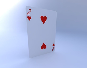 3D model Two of Hearts