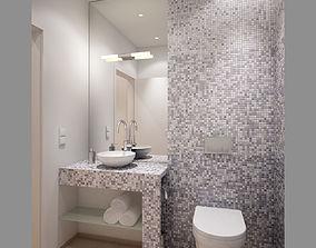 Small Bathroom Restroom Interior Scene 3D model