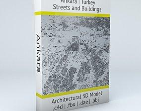3D Ankara Streets and Buildings