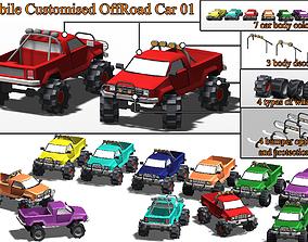 3D asset Mobile Customised OffRoad Car 01