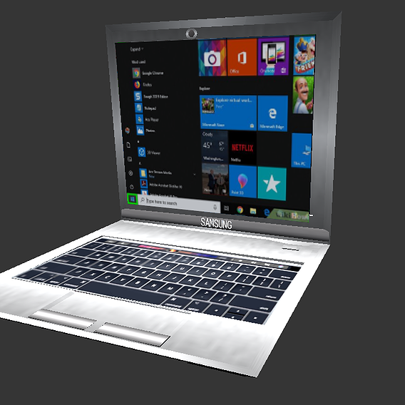 Low poly laptop