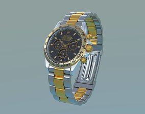 Rolex Cosmograph Daytona Oyster steel 3D model