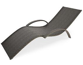 Wicker Deckchair 3D