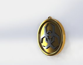 Biohazard symbol 3D printable model