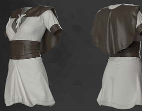 Female Medieval Mini Dress - 53 Marvelous Designer and