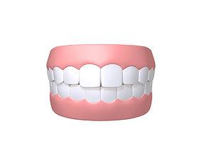 3D model Human Mouth Teeth Cartoon