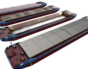3D model set of barges 85x16 transport