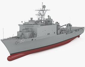 3D model Harpers Ferry-class dock landing ship
