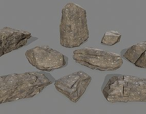 3D model realtime rocks set