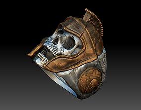 skull spartan ring 3d model jewelry