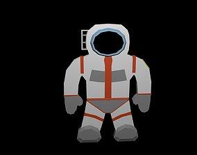 Low poly Cosmonaut symbol 3D model