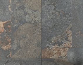 Stone Wall Tiles Kayah Rust 120x270 Set 3 3D