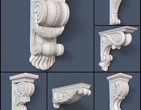 30 Decorative Corbels Collection 3D