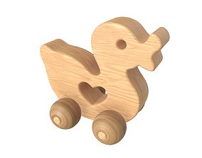 3D model Duck wooden