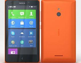 3D model Nokia XL and XL Dual Orange