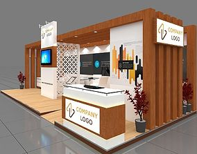 sell Exhibition stall 3d model 9x4 mtr 3 sides open