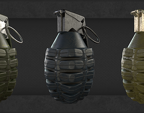3D asset Frag grenade