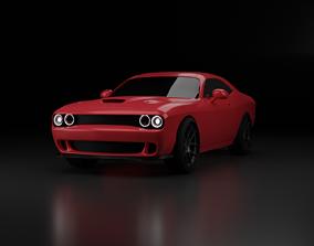 3D model redcar Dodge challenger