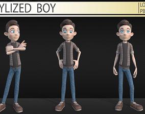 Stylized boy 3D asset