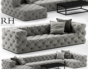 Restoration Hardware soho tufted 3D