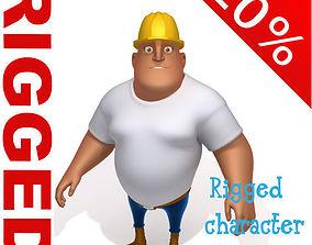 Worker Cartoon Rigged 3D model