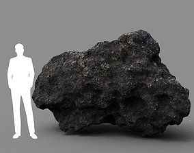3D model Low poly Lava Rock with dust 01 200229