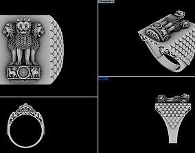 Ashok stabh ring 3d print model cad