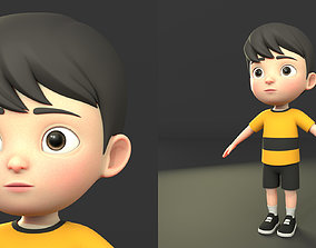 character cartoon 9 3D asset realtime