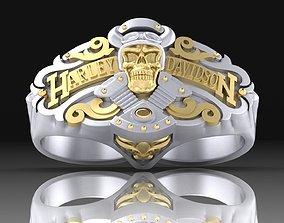 Ring Harley Davidson motors 3D print model