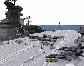 Aircraft - Carrier scene 3D model