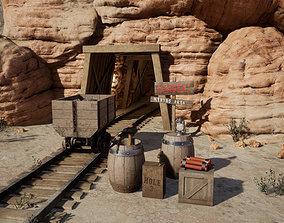 3D model game-ready Desert Mining Props