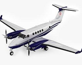 Beechcraft King Air 250 3D model