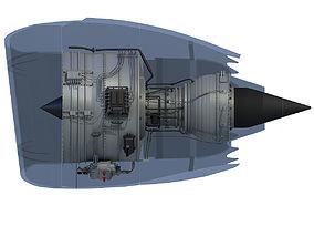 3D model Turbofan Aircraft Engine