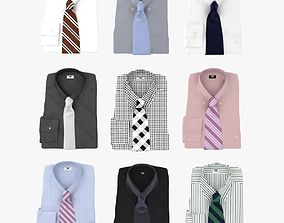 3D Collection Of Shirt With Tie