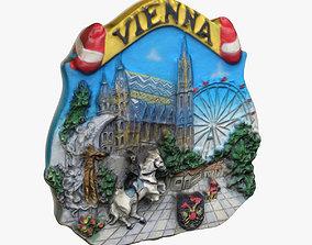 3D print model Vienna Austria Magnet Souvenir