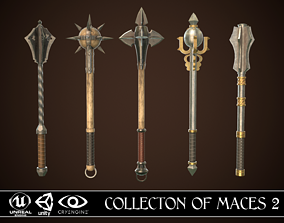 Collection of Maces 2 3D