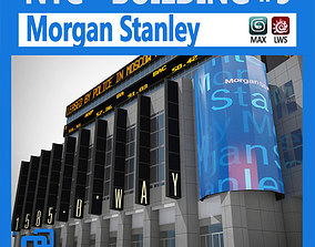 3D model animated NYC Building Morgan Stanley