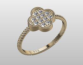 Ring clover zirconia lightweight 3D print model