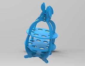 easter bunny egg holder 3D printable model